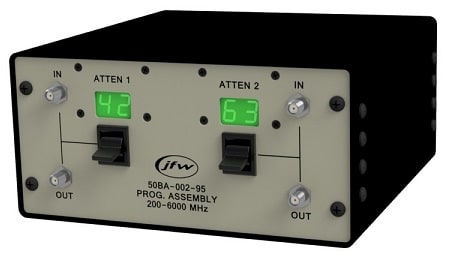 Benchtop attenuator assembly with ethernet serial manual control