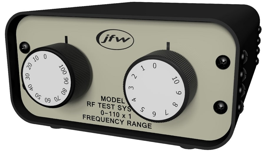 Benchtop attenuator with manual rotary attenuators