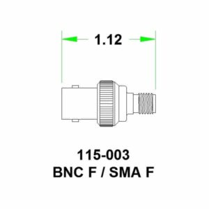 SMA Female to BNC Female Adapter