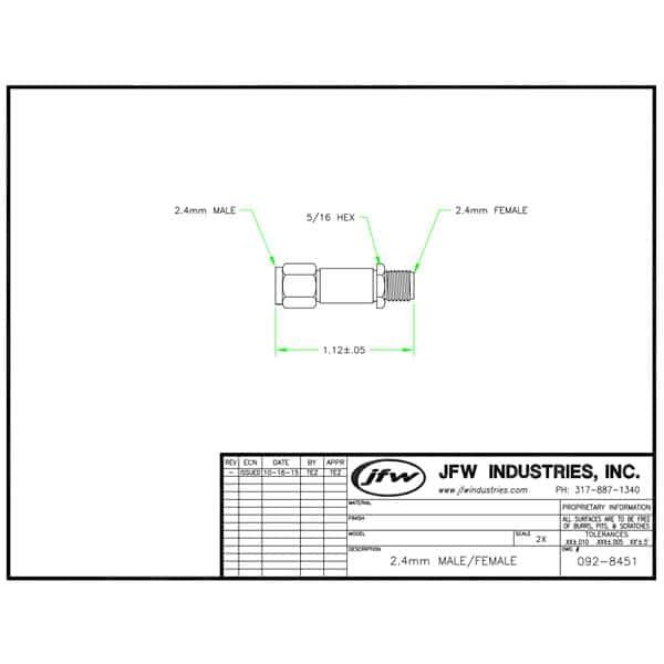 50hfat-xxx fixed attenuator