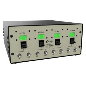 Quad Channel Benchtop Programmable Attenuator Assembly