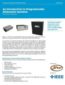 Introduction to Programmable Attenuators